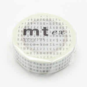 MT Washi Tape - Alphabet