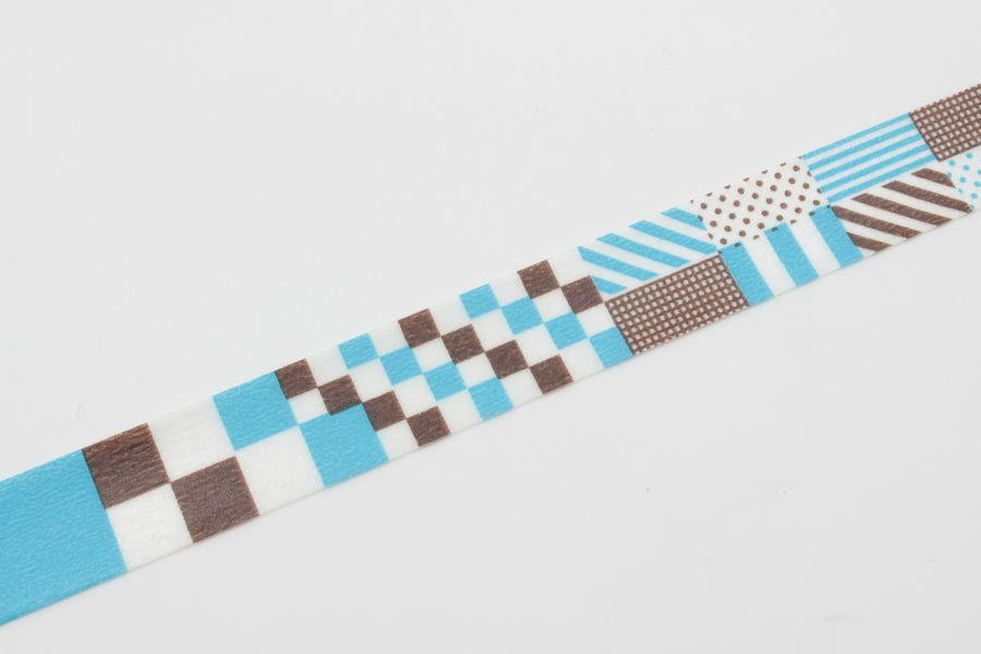 MT Washi Tape - Grid, Stripes & Dots In Blue