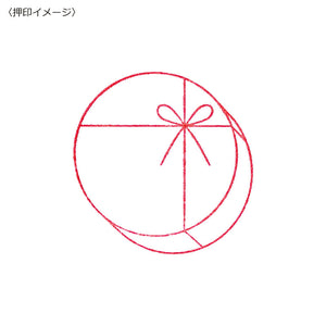 Japanese Round Cube Gift Stamp with Bow - Maruai by micmoc.com at Mic Moc