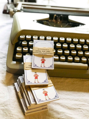 Vintage Memo Card  - VMC 002 'My Play Book II'  Vintage Boy