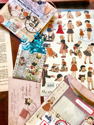 'My Story Book' Vintage Children's Illustrations A5 Sticker Set