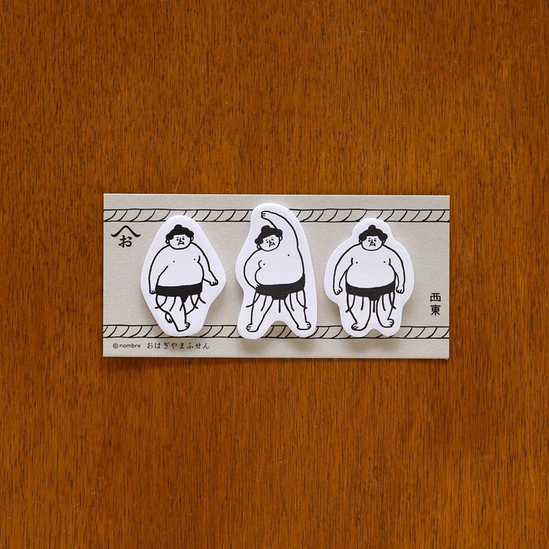 Ohagiyama Mini Sticky Notes - Sumo Wrestler Adhesive Notes at micmoc.com at Mic Moc
