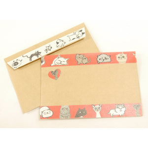 Shinzi Katoh Chaton Chaton 'Banana' Washi Tape - Cats See Red!