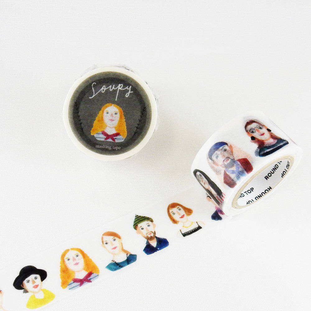 Soupy Washi Tape - Fashion People