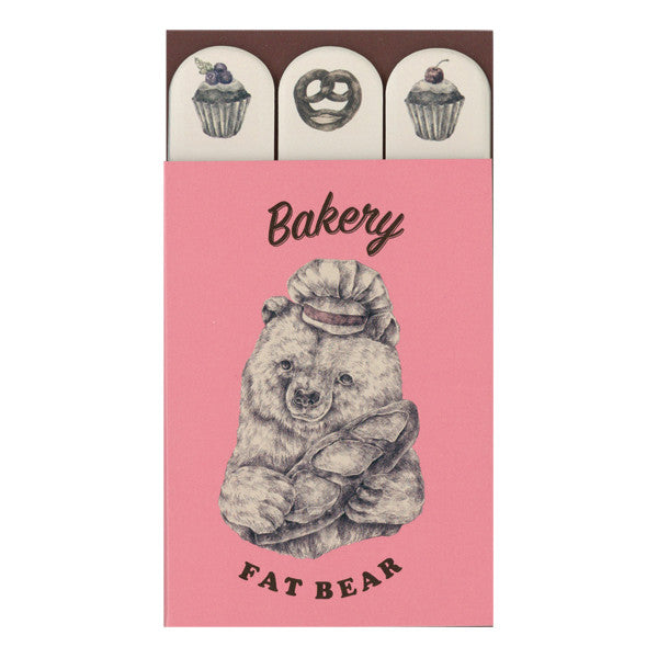 Mini Sticky Note Set - Bakery Bear