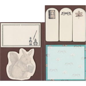 Mini Sticky Note Set - Library Squirrel from micmoc.com at Mic Moc Curated Emporium