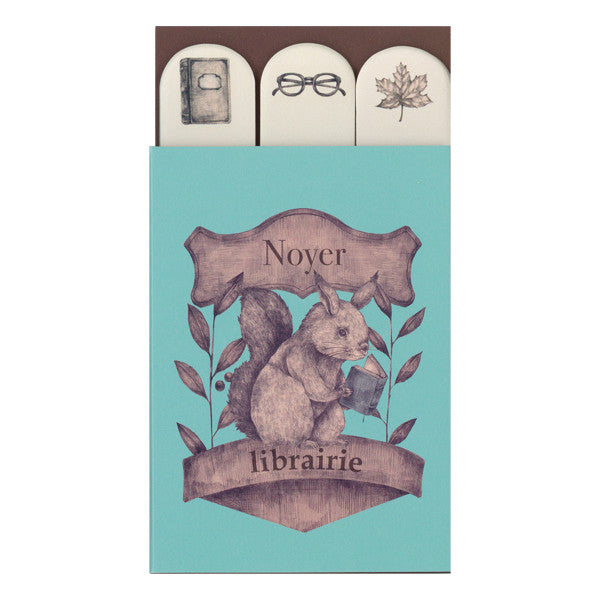 Mini Sticky Note Set - Library Squirrel