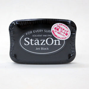 Staz On Solvent Ink Pad - Jet Black