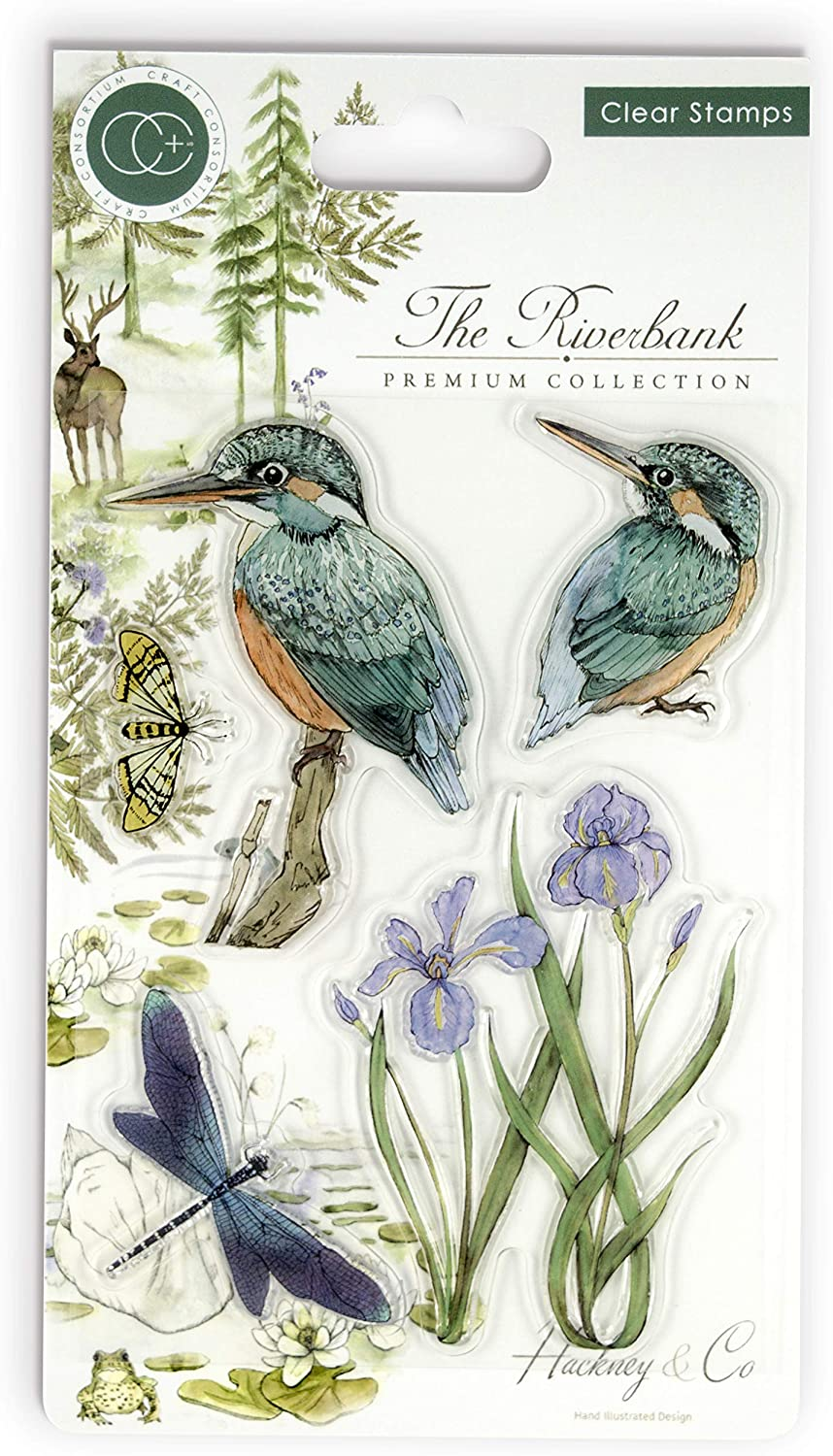 'Kingfisher' A6 Clear Stamp - Craft Consortium from micmoc.com