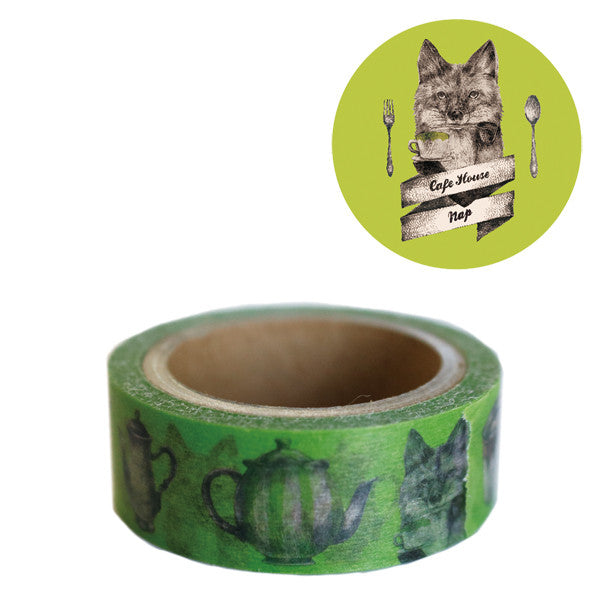Washi Tape - Cafe Fox from micmoc.com at Mic Moc Curated Emporium