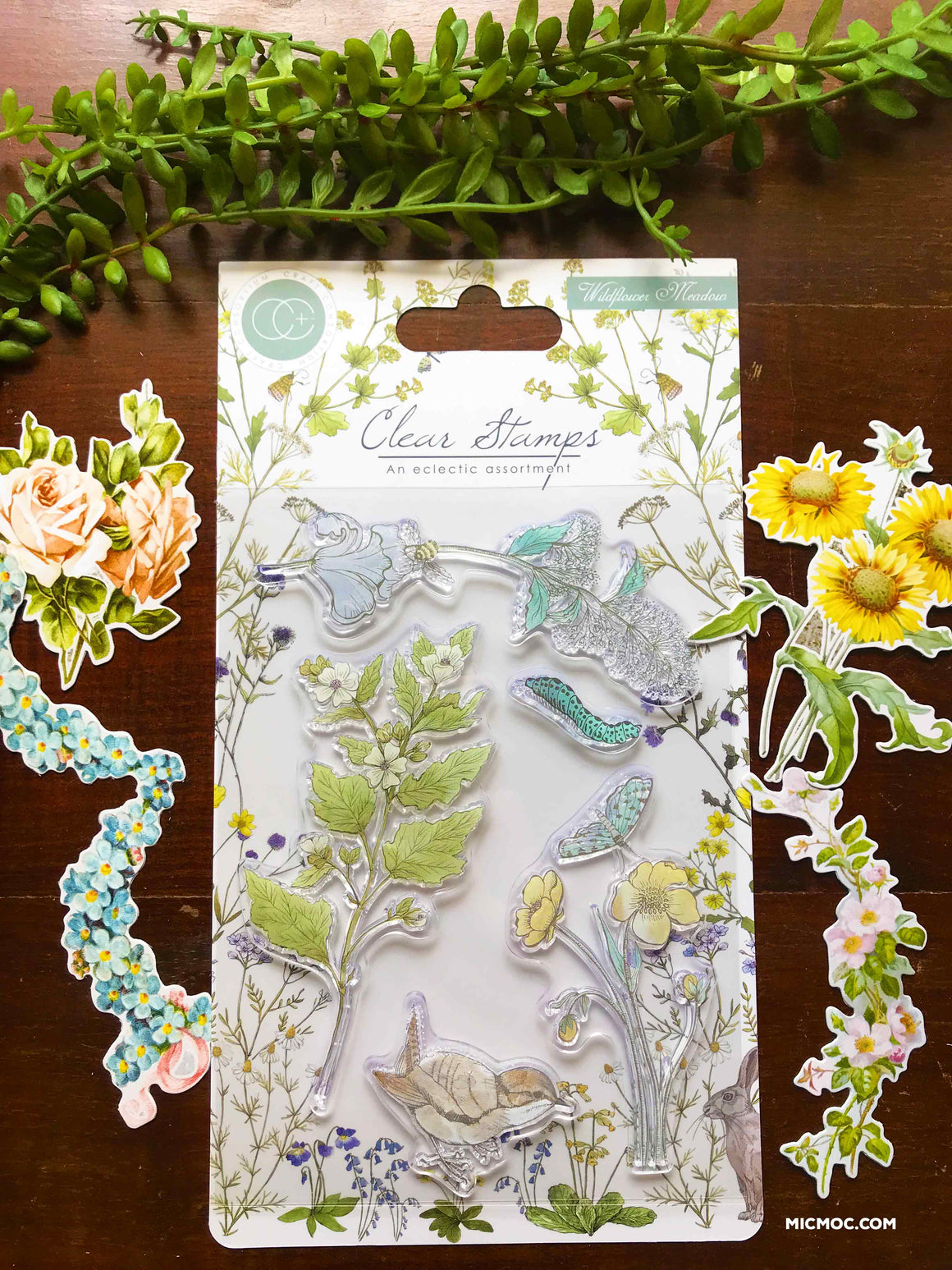 'Wildflower Meadow' A6 Clear Stamp - Craft Consortium from micmoc.com