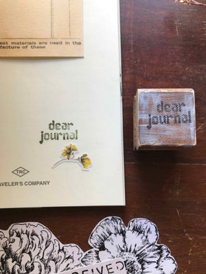 'Dear Journal' Wood Rubber Stamp by Mic Moc