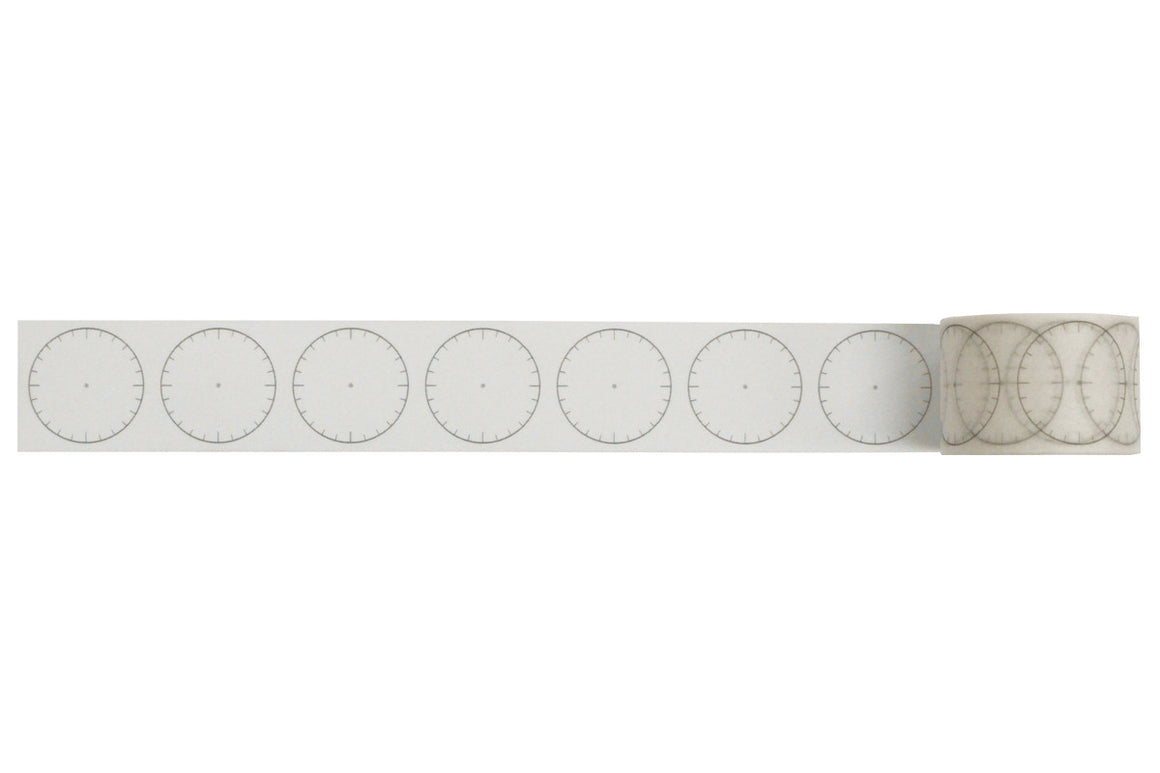 30mm Washi Tape - Blank Clock at micmoc.com at Mic Moc