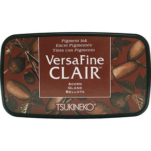 VersaFine Clair 'Dark' Pigment Ink Pad - Acorn from micmoc.com at Mic Moc Curated Emporium