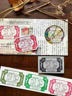 Pre-order 'Avec Amour' (With Love 愛を込めて) Rubber Stamp by Mic Moc from micmoc.com