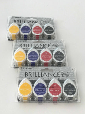 Tsukineko Brilliance Dew Drop Pigment Inks - Basic by micmoc.com at Mic Moc