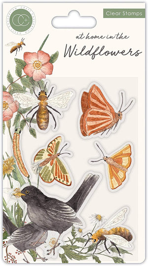 'Bees & Butterflies' A6 Clear Stamp - Craft Consortium from micmoc.com