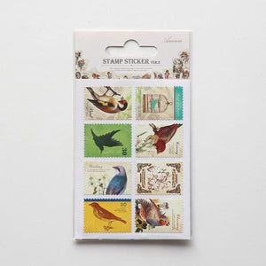 Postage-style Stickers - Bird (16-pk) from micmoc.com at Mic Moc