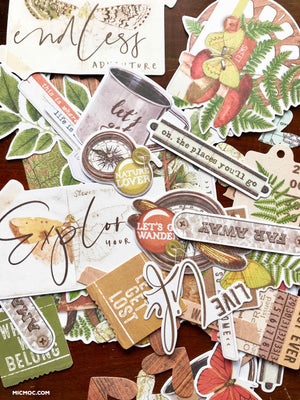Simple Stories Vintage Great Escape Die-Cuts 'Bits & Pieces' (39 pc)