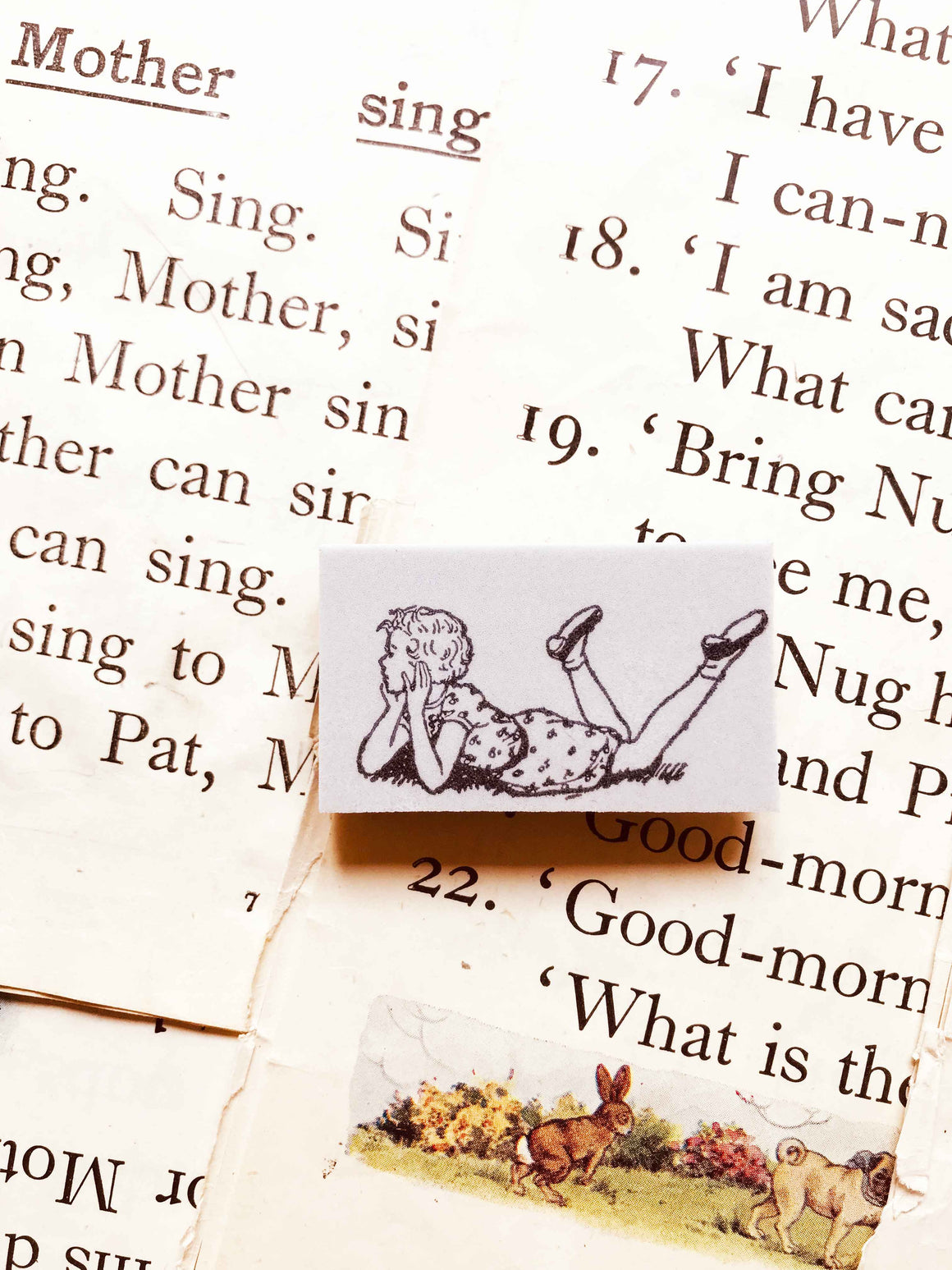 'Daydreaming Girl' - PRE-ORDER (Mic Moc Rubber Stamps Feb 2020) from micmoc.com at Mic Moc
