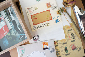 Fun Mail Stamp Kodomo No Kao - 005 Frog (Thanks for Waiting) from micmoc.com at Mic Moc Curated Emporium