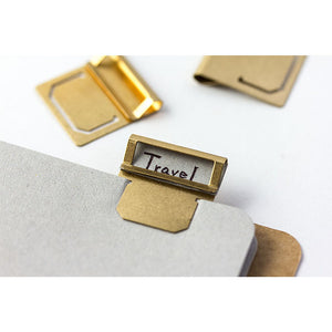 Traveler's Company Brass Index Clip - Set of 6 from micmoc.com at Mic Moc Curated Emporium