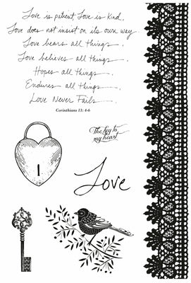Kaisercraft Clear Stamps - Key To My Heart CS145 from micmoc.com at Mic Moc