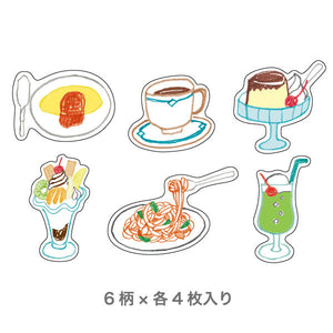 Chobit Wit Die-cut Sticker Set - Snack Bar & Desserts (Kissaten) by micmoc.com at Mic Moc