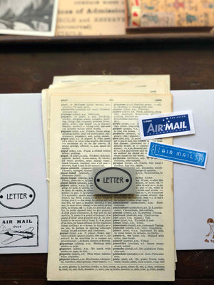 PRE-ORDER 'LETTER' Rubber Stamp by Mic Moc from micmoc.com