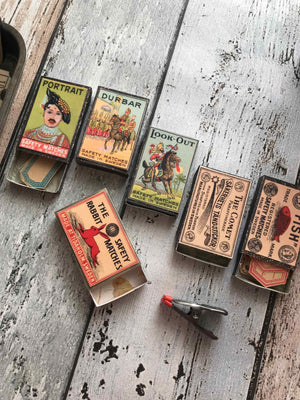 Vintage Matchboxes 01 (6 PK)  - Vintage Ephemera Replicas from micmoc.com at Mic Moc