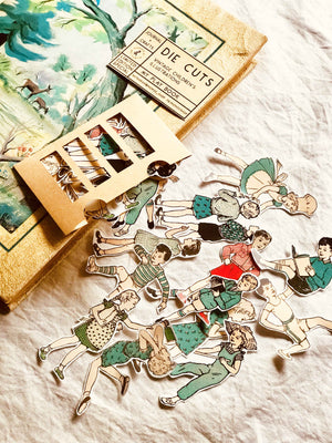 Die Cuts - 'My Play Book' Vintage Children's Illustrations from micmoc.com