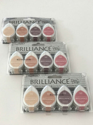 Tsukineko Brilliance Dew Drop Pigment Inks - Painter's Palette