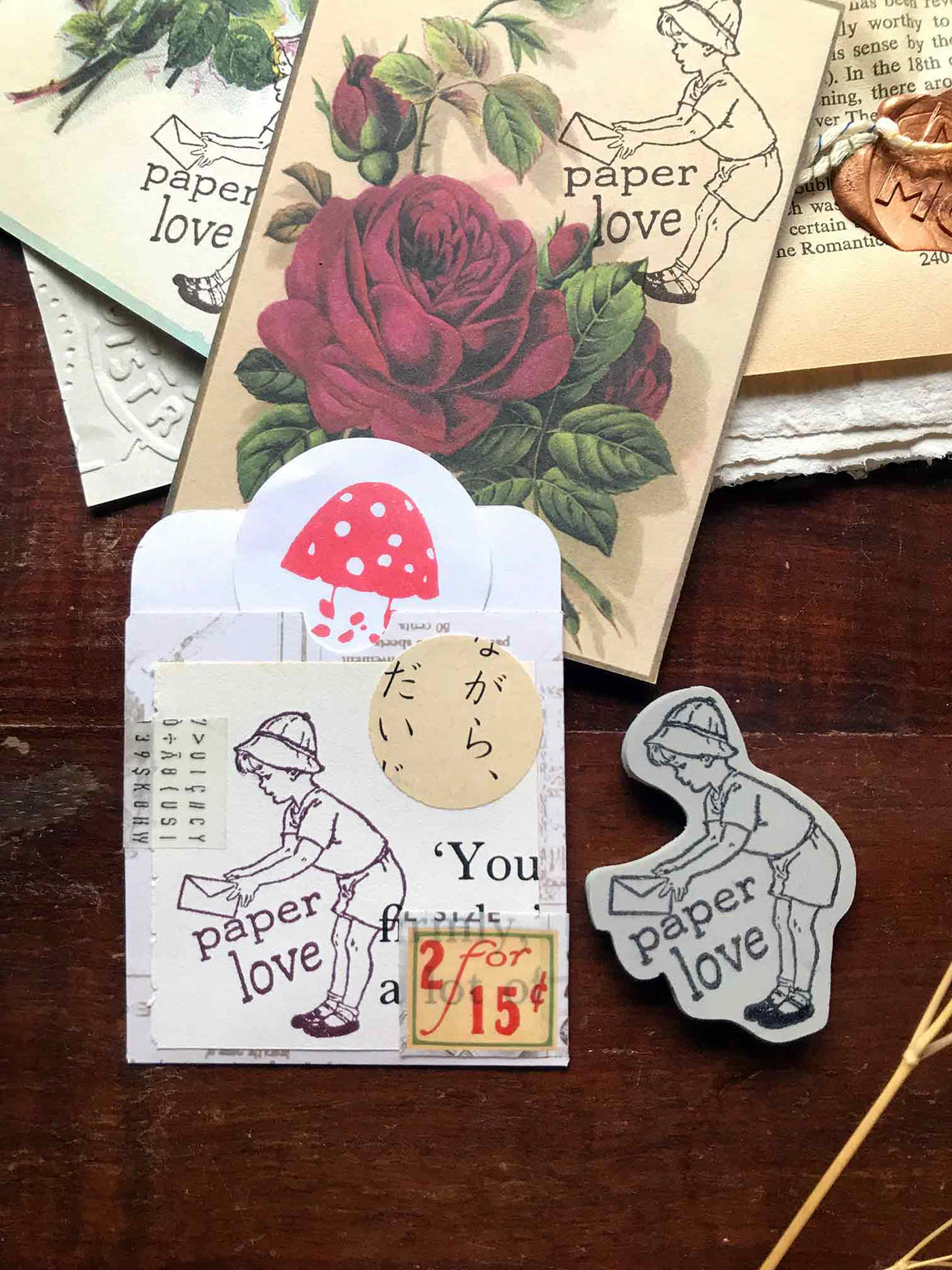Pre-order 'Paper Love' Rubber Stamp by Mic Moc (紙への愛 )from micmoc.com  Edit alt text