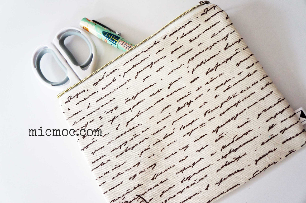 Kaiser Style Fabric Pencil Case - Botanica from micmoc.com at Mic Moc Curated Emporium