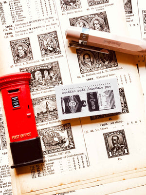 'Fountain Pen Written' - PRE-ORDER (Mic Moc Rubber Stamps Feb 2020) at micmoc.com at Mic Moc