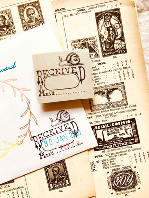 'Snail Mail Date Log' - PRE-ORDER (Mic Moc Rubber Stamps Feb 2020) at micmoc.com at Mic Moc