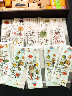 Shinzi Katoh Boxed Sticker Roll - Japanese Icons on micmoc.com