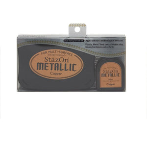 Staz On Metallic Ink Pad - Copper (Ink Set with re-inker) from micmoc.com at Mic Moc Curated Emporium