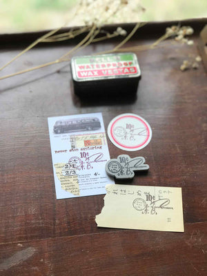 'Ten Cents Post Mark' Rubber Stamp by Mic Moc (10セントの郵便消印) from micmoc.com