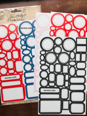 Tim Holtz® Idea-ology Paperie - Classic Label Stickers - TH93959 from micmoc.com