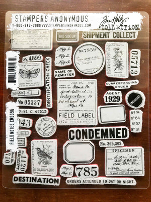 Tim Holtz® Idea-ology Field Notes Cling Stamp Set from micmoc.com