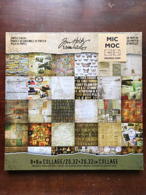 Tim Holtz® Idea-ology Collage Paper Stash TH93054 - 8 x 8 Paper Pad from micmoc.com