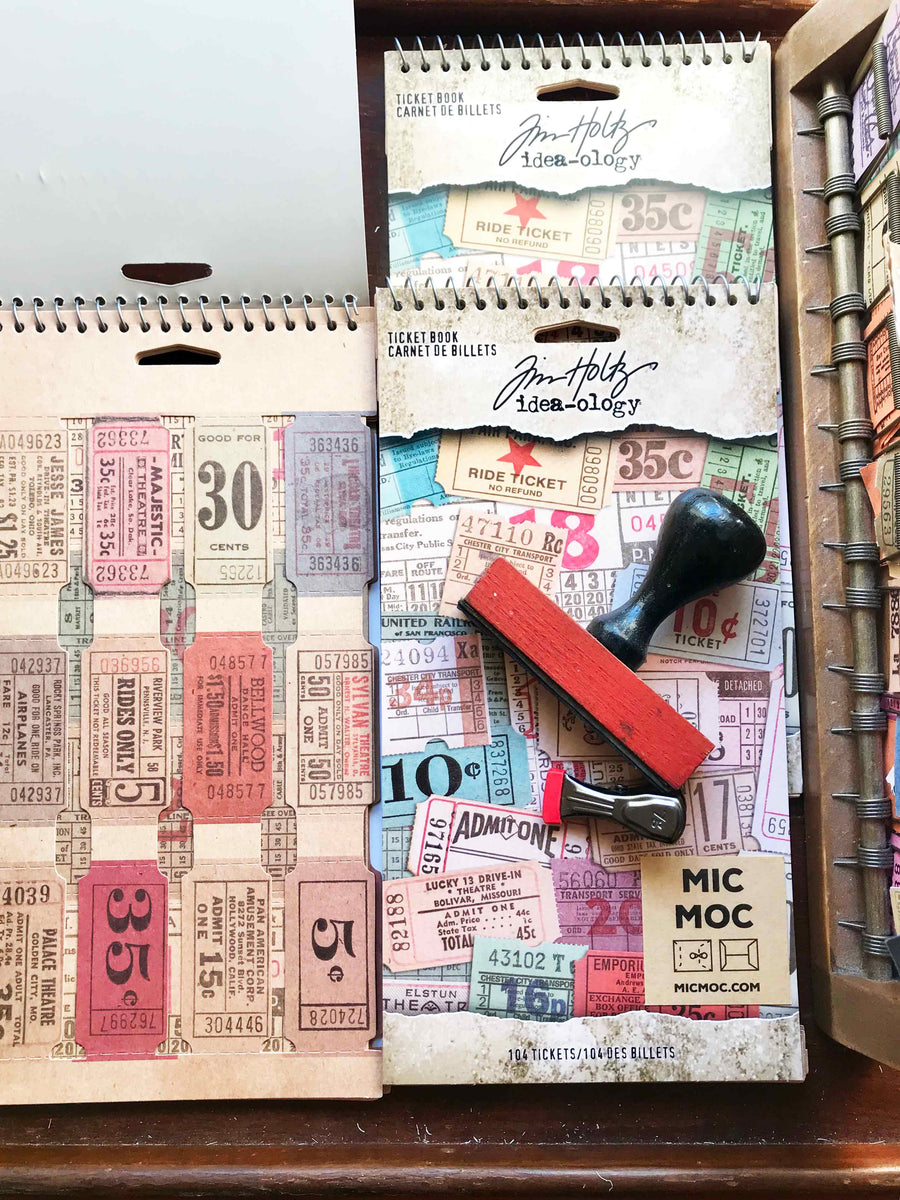 Tim Holtz® Idea-ology Ticket Book TH94036 (Spiral Bound) from micmoc.com