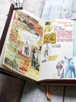 Travel Journal Sticker Set - Not All Who Wander Are Lost (20pc Pack) by micmoc.com at Mic Moc