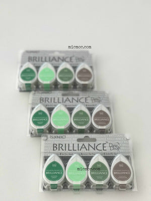 Tsukineko Brilliance Dew Drop Pigment Inks - Tree House