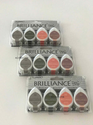 Tsukineko Brilliance Dew Drop Pigment Inks - Two Tone