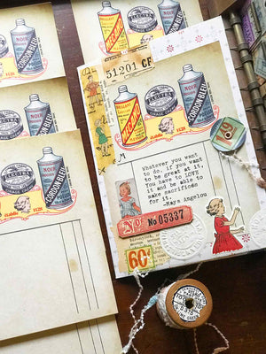 'Vintage Shine' Vintage Replica Receipt Note Pad - by Mic Moc (骨董品のレプリカ領収書メモ帳) from micmoc.com