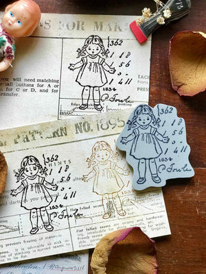 Pre-order 'What A Dolly' Rubber Stamp by Mic Moc (なんて素敵な人形でしょう) from micmoc.com