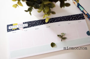 Kaiser Style Weekly Desk Pad - Wild at micmoc.com from Mic Moc Curated Emporium