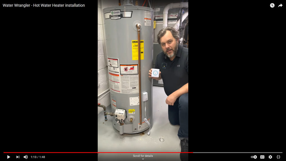Installing the Water Wrangler on a Hot Water Heater